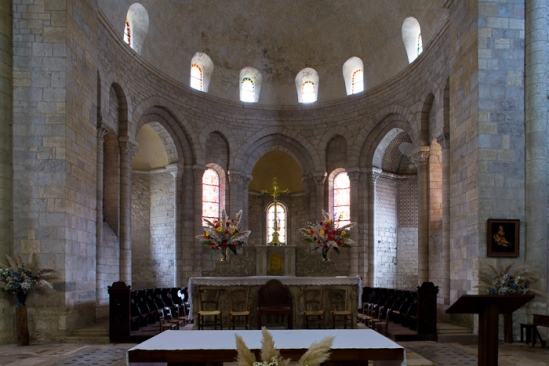 Apse, Église Sainte Marie, Souillac (Lot) Photo by Dennis Aubrey