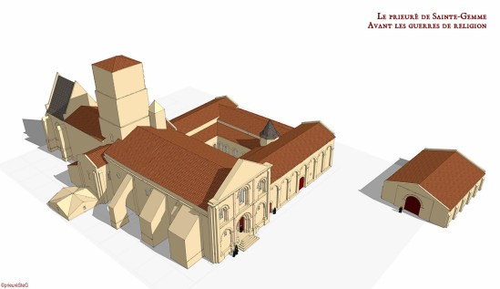 Le Prieuré de Sainte-Gemme (Before the Wars of Religion XVIth Century)  Model by Andreï Vlad