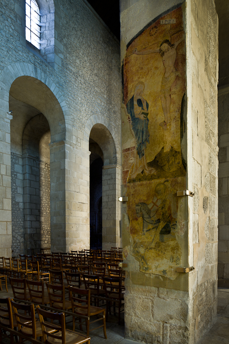 Pier frescoes, Église Saint-Léger, Ébreuil (Allier) Photo by PJ McKey