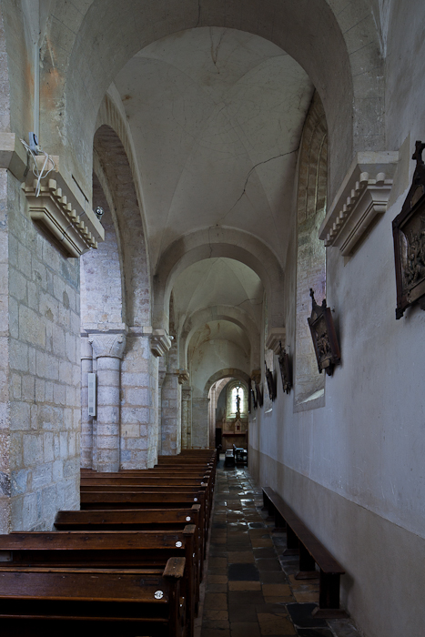 Side aisle, Église Sainte Marie-du-Mont (Manche) Photo by PJ McKey