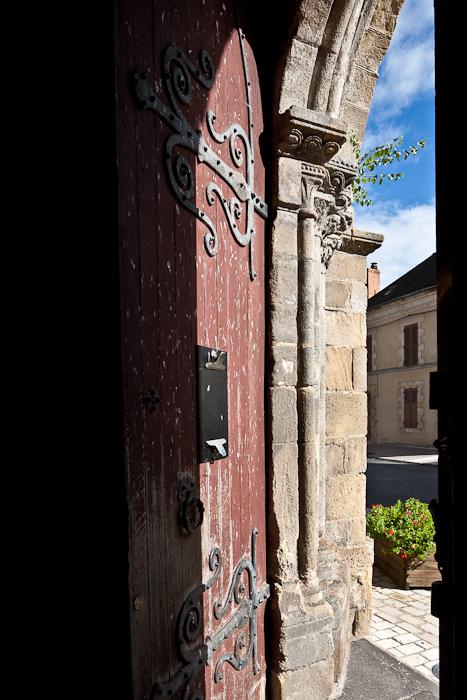 South entrance, Église Saint Martin, Ygrande (Allier) Photo by PJ McKey