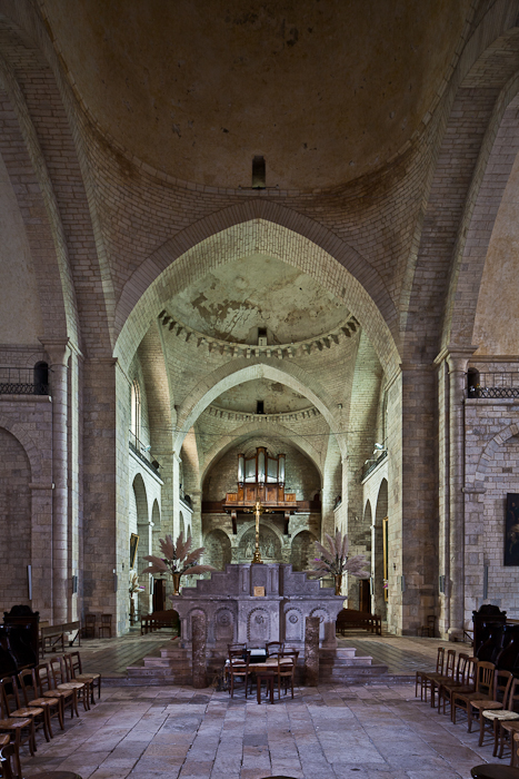 View from east end of choir,  Église Sainte Marie, Souillac (Lot) Photo by PJ McKey
