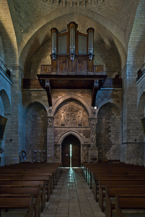 Nave from east,  Église Sainte Marie, Souillac (Lot) Photo by PJ McKey