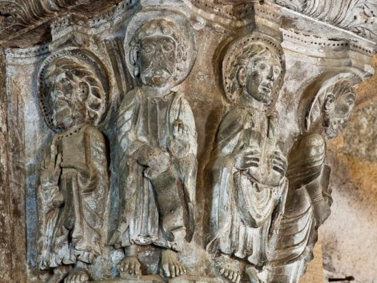 Capital, Église Notre Dame de Thines, Thines (Ardèche)  Photo by Dennis Aubrey
