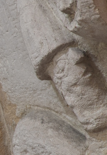 Detail, centaur capital, Église Notre-Dame-de-l'Assomption, Sainte Marie-du-Mont (Manche) Photo by Dennis Aubrey