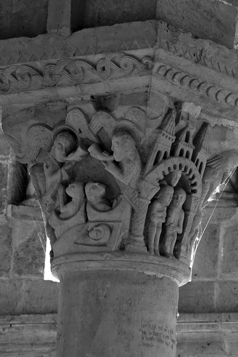 Capital - Resurrection of the Dead and the Righteous in Heaven, Église Saint-Révérien de ‬, Saint-Révérien (Nièvre) Photo by Dennis Aubrey