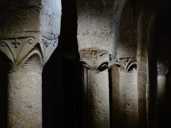 Crypt, Abbatiale Sainte-Marie de Cruas, Cruas (Ardèche) Photo by Nathan Mizrachi