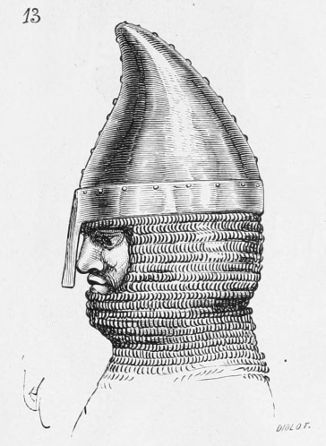 Norman nasal helmet, Phrygian style (11th and 12th century)