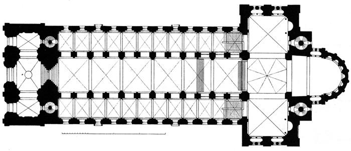 speyer cathedral 1  u2013 floor plan 2