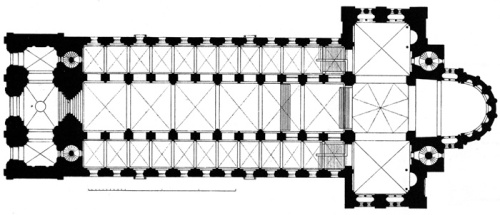 Ground plan, Imperial Cathedral Basilica of Saint Mary and Saint Stephen, Speyer (Rhineland-Palatinate)