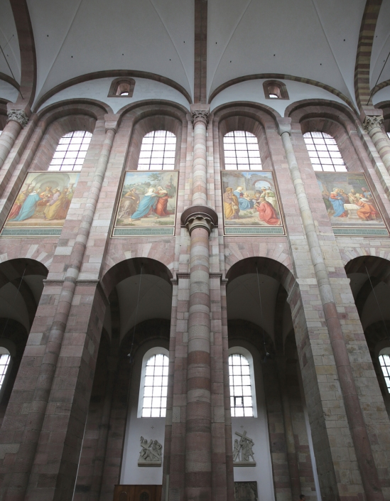Nave elevation, Imperial Cathedral Basilica of Saint Mary and Saint Stephen, Speyer (Rhineland-Palatinate)  Photo by Jong-Soung Kimm
