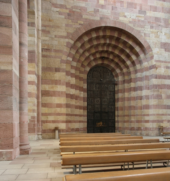 Bronze gate to nave, Imperial Cathedral Basilica of Saint Mary and Saint Stephen, Speyer (Rhineland-Palatinate)  Photo by Jong-Soung Kimm