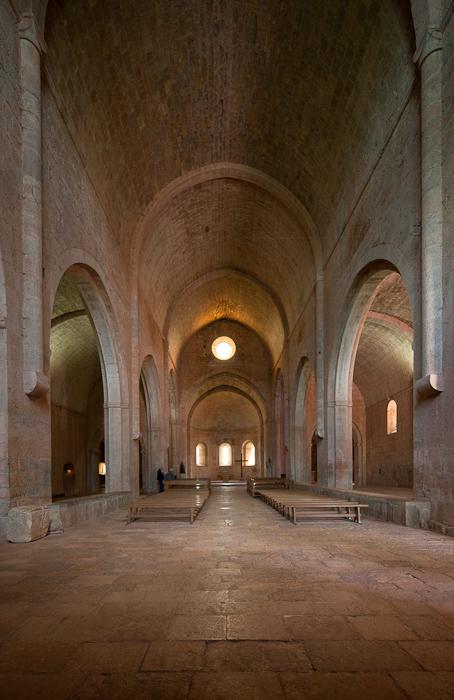 Nave, Abbaye de Thoronet, Le Thoronet (Var)  Photo by Dennis Aubrey
