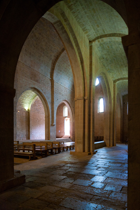 View from transept, Abbaye de Thoronet, Le Thoronet (Var)  Photo by PJ McKey