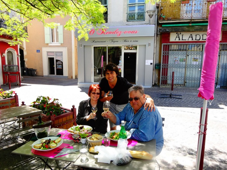 Lunch at Bourg Saint Andeol (Ardèche)