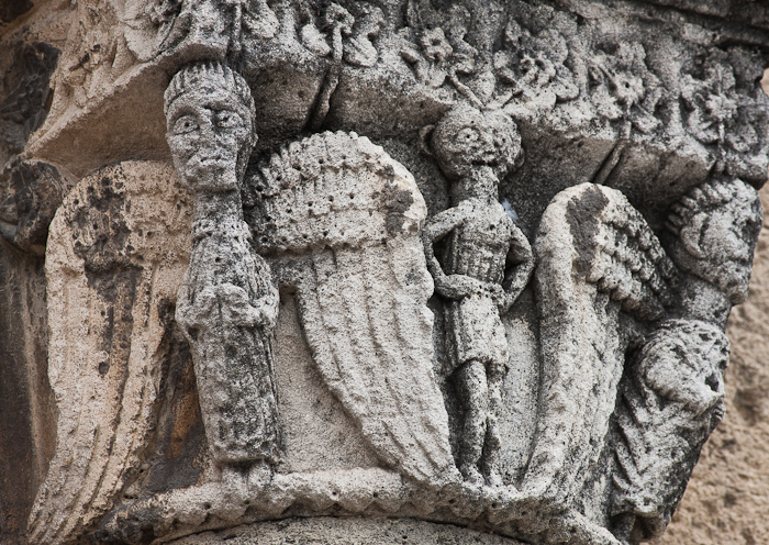 Exterior capital, Église Notre Dame du Lac, Le Thor (Vaucluse)  Photo by Dennis Aubrey