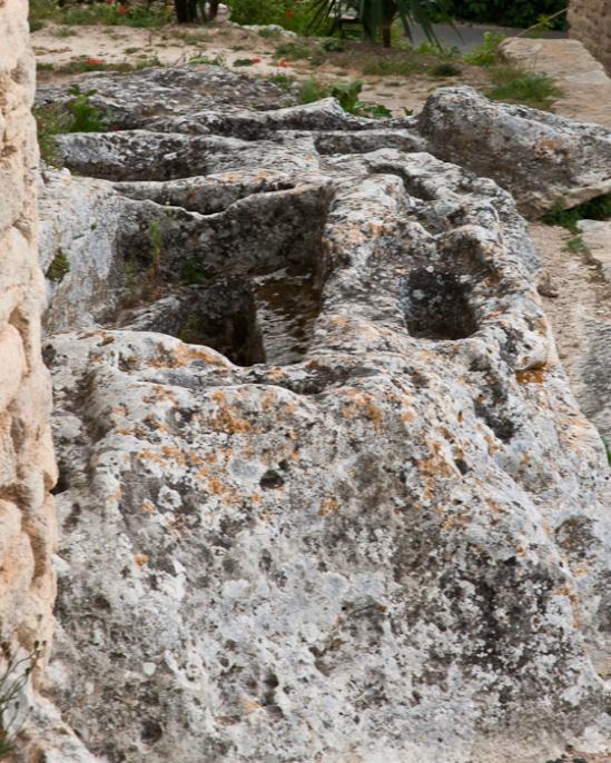 Rock necropole, Église Saint Pantaléon, Saint Pantaléon (Vaucluse)  Photo by Dennis Aubrey