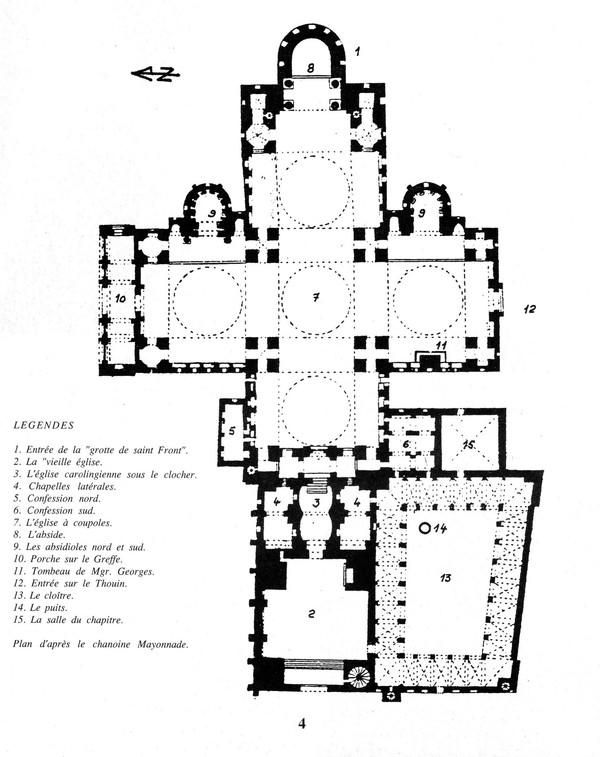 Ground plan, Cathédrale Saint Front de Périgueux