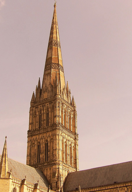 Cathedral Tower, Cathedral of the Blessed Virgin Mary, Salisbury (Photo by Nathan Mizrachi