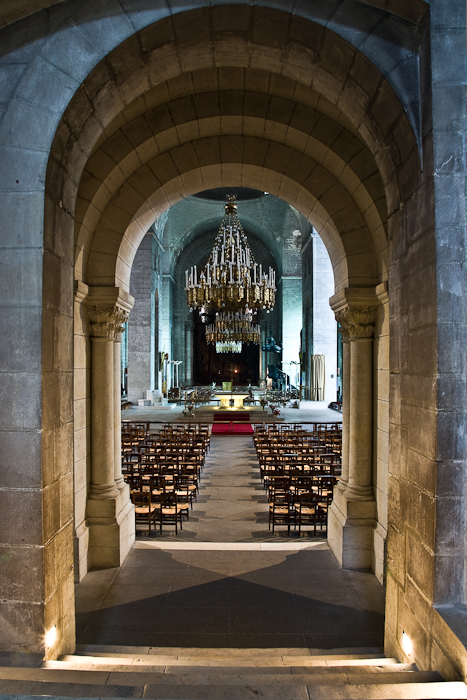Nave from west porch, Cathédrale Saint Front, Périgueux (Dordogne)  Photo by PJ McKey