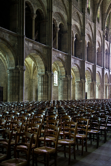 Nave elevation, Basilique Saint Remi, Reims (Marne)  Photo by PJ McKey