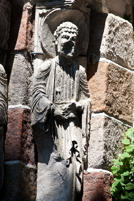 Exterior sculpture, Église Notre Dame de Thines, Thines (Ardèche) Photo by Dennis Aubrey