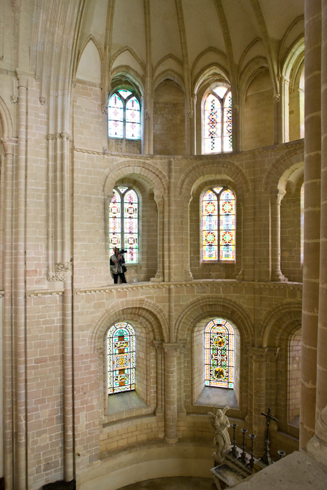 Apse windows, Église Abbatiale Saint Vigor, Cerisy-la-Forêt (Manche) Photo by Dennis Aubrey