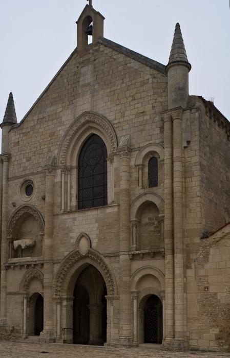 West facade, Église Saint-Pierre d'Airvault, Airvault (Deux-Sèvres)  Photo by Dennis Aubrey