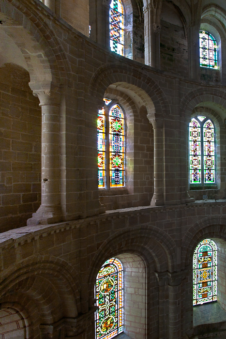 Apse windows, Église Abbatiale Saint Vigor, Cerisy-la-Forêt (Manche) Photo by PJ McKey