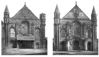 Église Abbatiale Saint-Jouin-de-Marnes before and after restoration