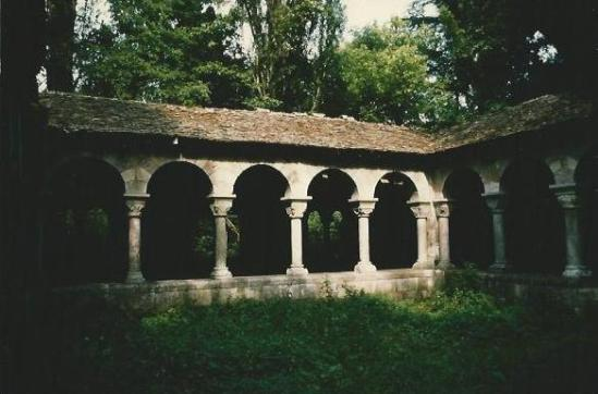 Cloister, Chateau du Mesnuls (1978)  Photo by Jean-Pierre LeCerc
