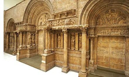 Cast of the West Portal of the Abbey Church of St. Gilles, Gard, France, in the Carnegie's Hall of Architecture. Photograph courtesy of Tom Little.