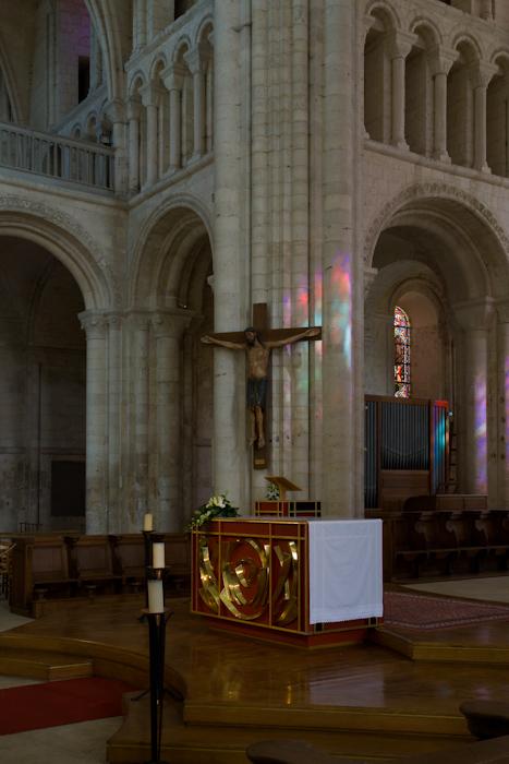 Crossing, Abbaye de Bénédictins Saint-Georges, Saint-Martin-de-Boscherville (Seine-Maritime)  Photo by Dennis Aubrey