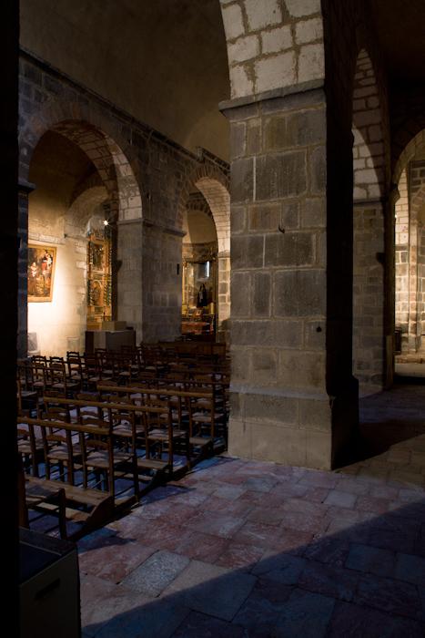 Nave elevation, Eglise Sainte-Marie à Corneilla-de-Conflent,  Corneilla-de-Conflent (Pyrénées-Orientales)  Photo by Dennis Aubrey