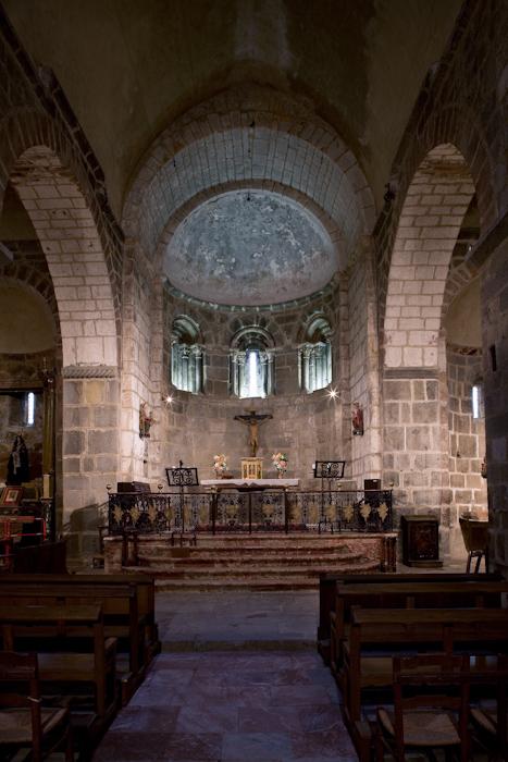 Apse, Eglise Sainte-Marie à Corneilla-de-Conflent,  Corneilla-de-Conflent (Pyrénées-Orientales)  Photo by Dennis Aubrey