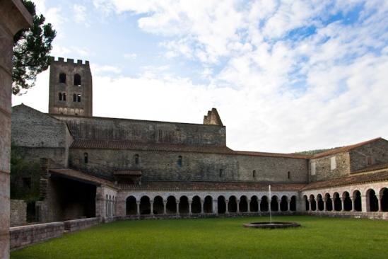 Cloister, Abbaye Saint-Michel de Cuxa, Codalet (Pyrénées-Orientales) Photo by Dennis Aubrey