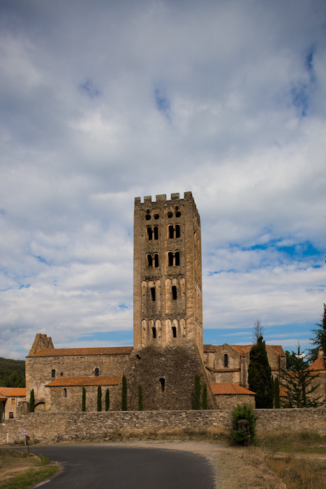 Clocher, Abbaye Saint-Michel de Cuxa, Codalet (Pyrénées-Orientales) Photo by Dennis Aubrey