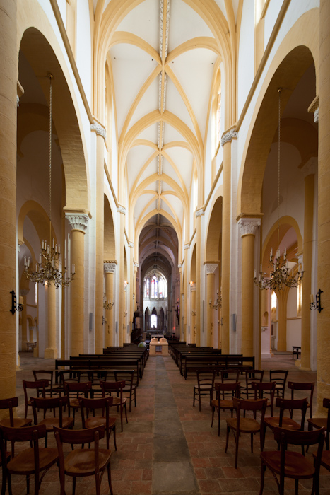 Nave, Prieuré Saint-Pierre-et-Saint-Paul de Souvigny, Souvigny (Allier)  Photo by Dennis Aubrey