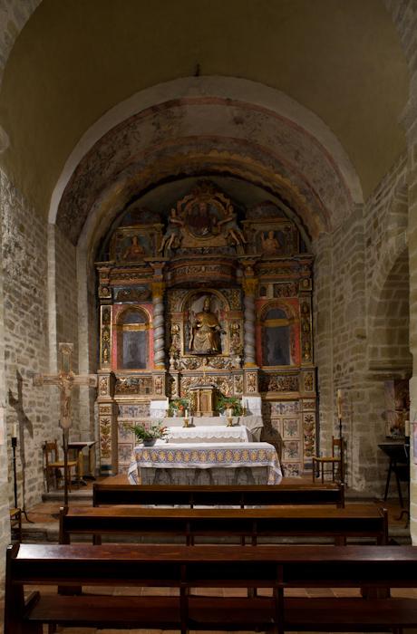Nave and apse, Chapelle de la Trinité, Prunet-et-Belpuig (Pyrénées-Orientales) Photo by Dennis Aubrey
