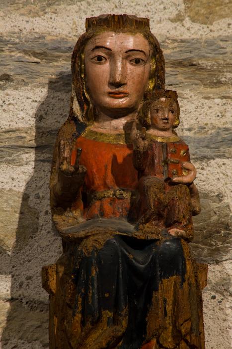Vierge de Prunet, Chapelle de la Trinité, Prunet-et-Belpuig (Pyrénées-Orientales)  Photo by Dennis Aubrey