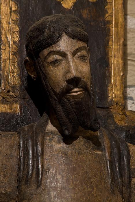Closeup of  Santa Majestat, Chapelle de la Trinité, Prunet-et-Belpuig (Pyrénées-Orientales)  Photo by Dennis Aubrey