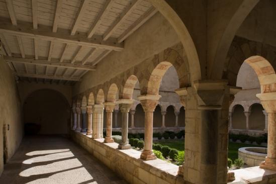 Cloister, Abbaye de Saint-Génis-des-Fontaines, Saint-Génis-des-Fontaines (Pyrénées-Orientales)  Photo by Dennis Aubrey