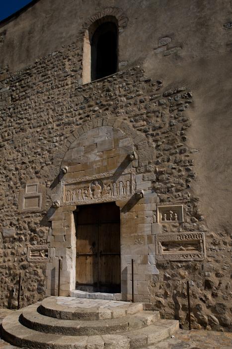 West portal, Église Saint Michel Saint-Génis-des-Fontaines (Pyrénées-Orientales)  Photo by Dennis Aubrey