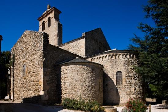 Chevet, Église Saint-André-de-Sorède, Saint-André (Pyrénées-Orientales)  Photo by Dennis Aubrey