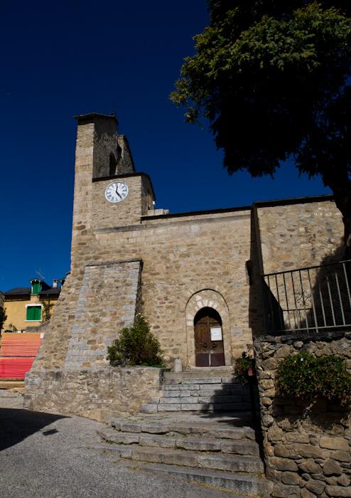 Église Saint Jean de Dorres, Dorres (Pyrénées-Orientales)  Photo by Dennis Aubrey