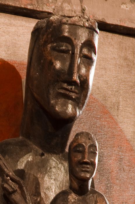 Detail Notre Dame de Belloc, Église Saint Jean de Dorres, Dorres (Pyrénées-Orientales) Photo by Dennis Aubrey