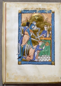 Murder of Thomas à Becket, miniature from an English psalter, Walters Art Museum (Image in the Public Domain)