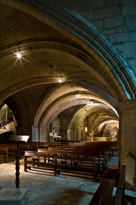 Crypt, Abbaye de Saint-Gilles, Saint-Gilles-du-Gard (Bouches-du-Rhône) Photo by PJ McKey