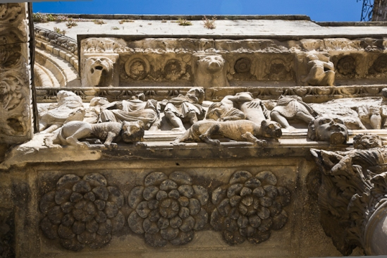 Portal detail, Abbaye de Saint-Gilles, Saint-Gilles-du-Gard (Bouches-du-Rhône) Photo by PJ McKey