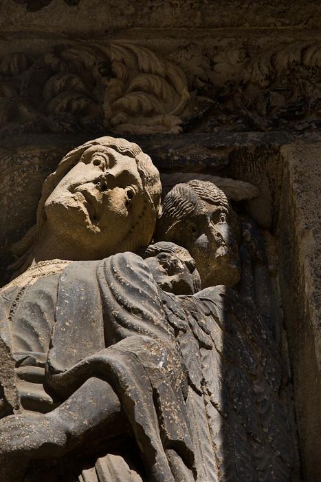 Portal sculpture detail, Abbaye de Saint-Gilles, Saint-Gilles-du-Gard (Bouches-du-Rhône) Photo by PJ McKey